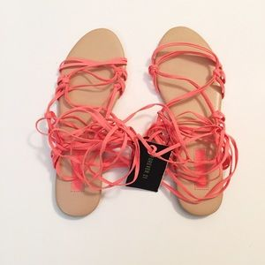 Forever 21 tie up the legs sandals